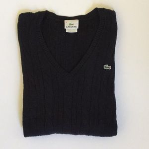 LACOSTE CABLE SWEATER